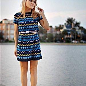 Missoni for Target Blue zigzag Chevron Dress S